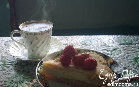 Рецепт Королевская ватрушка с клубникой
