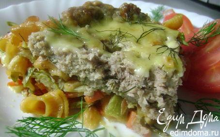 Рецепт Острое мясо в пироге из макаронных изделий