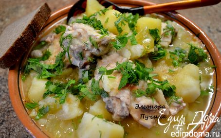 Рецепт Тушеная картошка с курицей