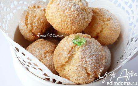 Рецепт Кокосовые тучки с миндалем и белым шоколадом для очаровательной Наташи (Biondina)