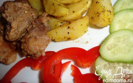 Рецепт Свинина с пряными картофельными дольками для Апрель