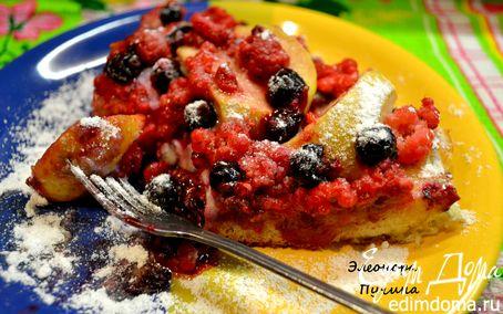 Рецепт Ягодный пирог из булки