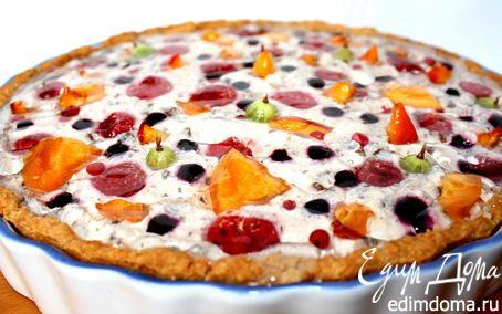 Рецепт Чизкейк с шоколадом и летними ягодами