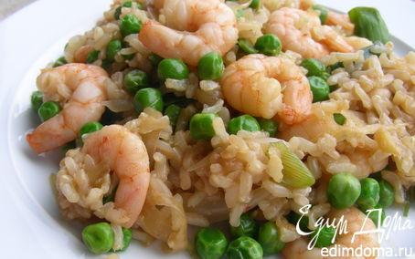 Рецепт Жареный рис с креветками по-малаккски