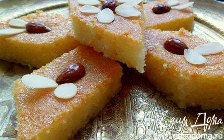Рецепт Намура (арабский манник, пропитанный сиропом с ароматом роз и флердоранжа)