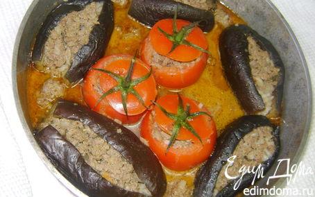 Рецепт Фаршированные баклажаны с помидорами
