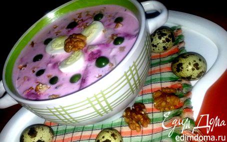 Рецепт Кефирный суп с грецкими орехами