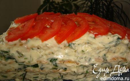 Рецепт Тортик из кабачков со сливочно-сырным кремом