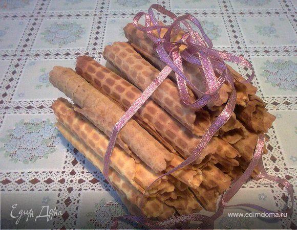 Хрустящие вафельные трубочки, вафли | рецепт с фото