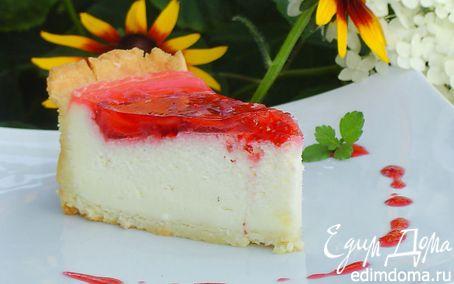 Рецепт Клубничный торт со сметанным суфле