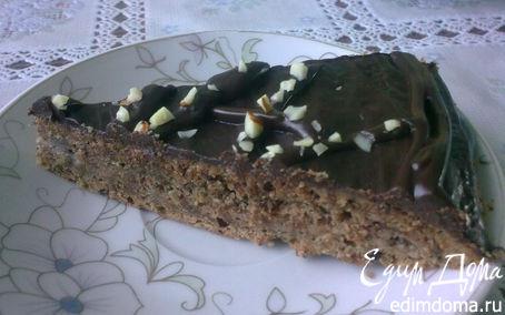 Рецепт Шоколадно-миндальный торт с заварным кремом
