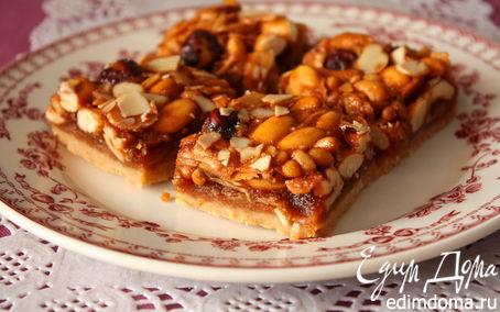 Рецепт Ореховые квадратики с медом