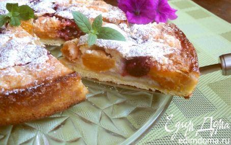 Рецепт Пирог с франжипаном и фруктами