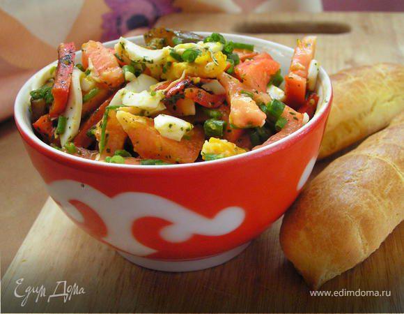 Легкий салат с ароматным сладким перцем
