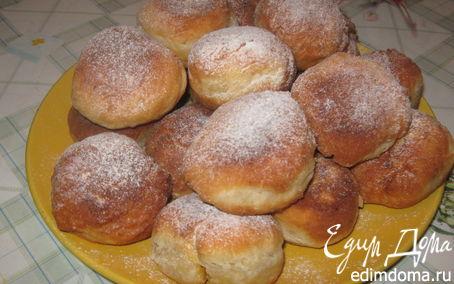 Рецепт Жареные пончики с курагой