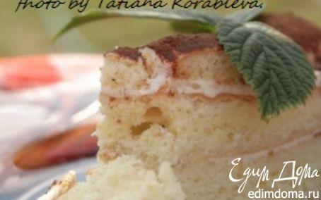 Рецепт Торт с лимонным бисквитом и сливочно-лимонным кремом