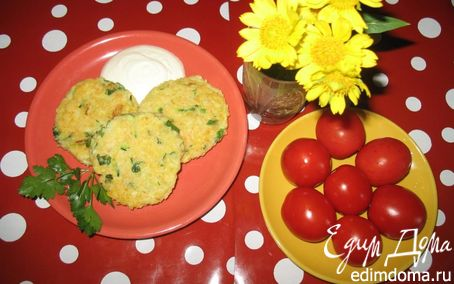 Рецепт Кукурузные котлеты с кабачком