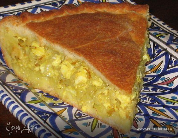 Закрытый пирог с капустой рецепт с пошагово в духовке из