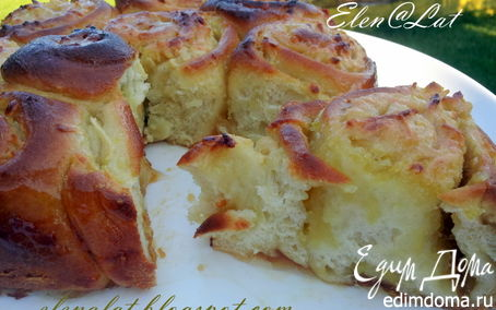 Рецепт Рулетный яблочно-лимонный пирог