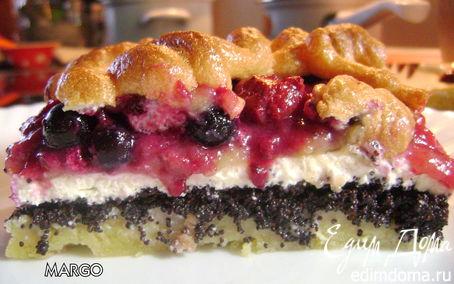 Рецепт Творожно-маковый пирог с ягодами