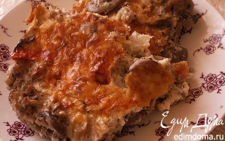 Рецепт Запеканка из цветной капусты с шампиньонами и сыром