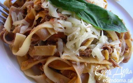 Рецепт Паста с соусом из тунца и томата