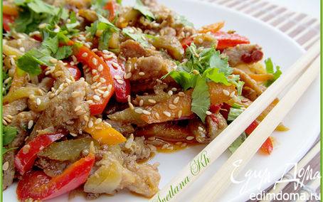 Рецепт Салат из говядины и баклажан по-корейски