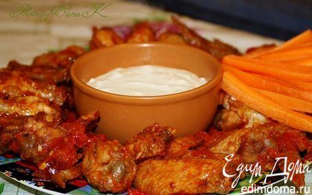 Рецепт Крылышки Баффало с соусом из голубого сыра