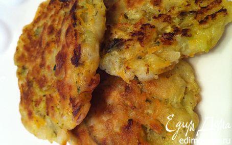 Рецепт Пряные оладушки из кабачков