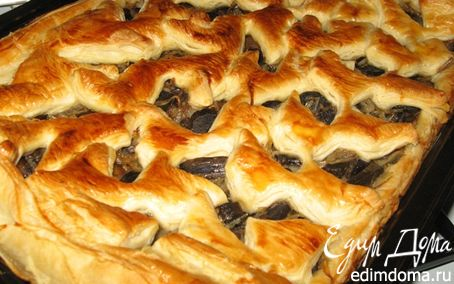 Рецепт Пирог с капустой и грибами
