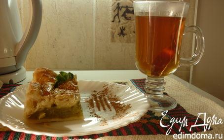 Рецепт слоеный пирог с ревенем и тмином