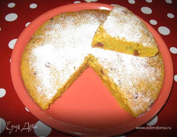 Сладкий пирог из моркови и кабачка