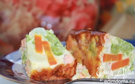 Рецепт Итальянская фриттата (рыбный омлет с овощами)