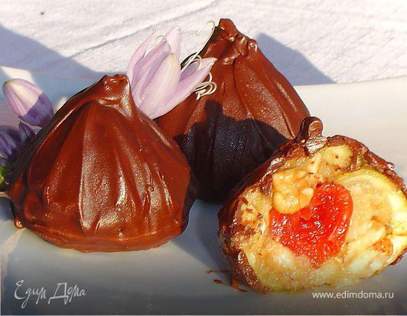 Трюфели с инжиром, орехами, вялеными вишнями