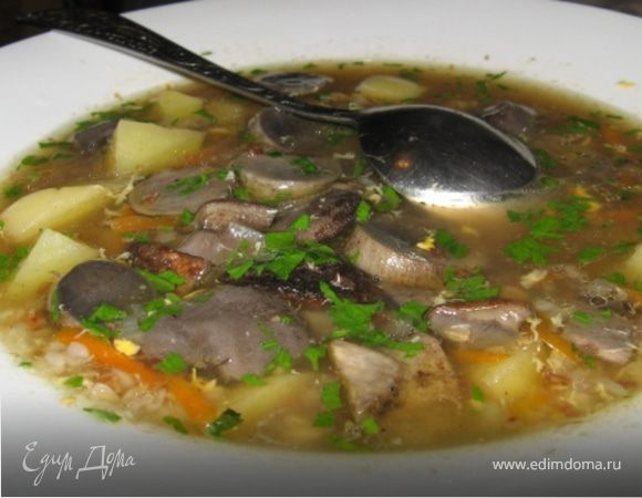 Гречневый Суп с грибами и яйцом