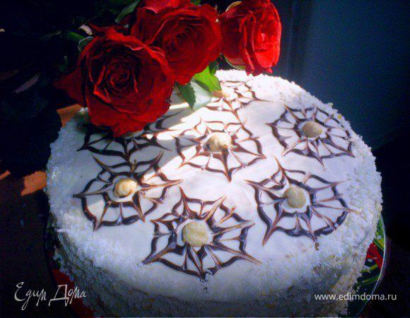 """Торт """"Праздничный"""" с черносливом и орехами"""