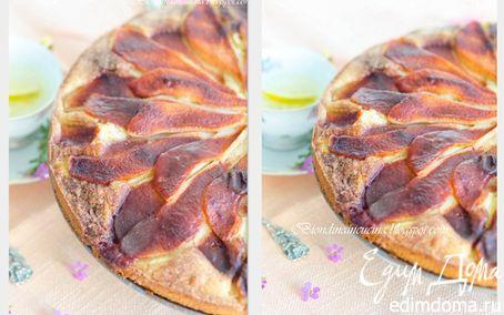 Рецепт Грушевый пирог с марципаном