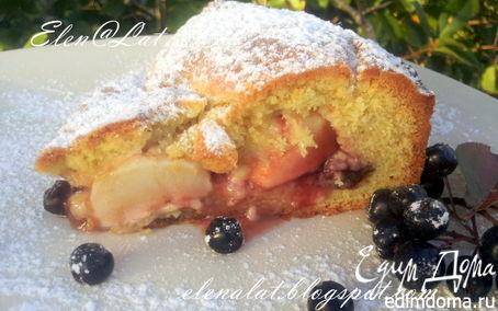 Рецепт Яблочный пирог с малиновым вареньем и изюмом