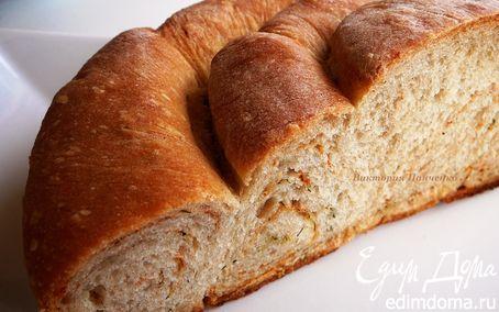 Рецепт Хлеб пшенично-ржаной с укропом и паприкой