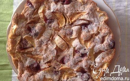 Рецепт Пирог с вишней и яблоком