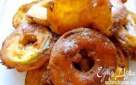 Рецепт Яблоки в кляре со сливочным соусом