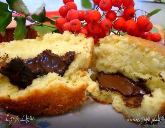 Сливочное пирожное с шоколадом