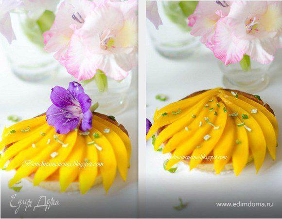 Карибские пирожные с кокосовым кремом