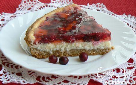 Рецепт Клюквенный тарт с творожным сыром