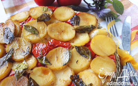 Рецепт Тарт с картофелем, сыром и помидорами