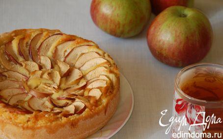 Рецепт Яблочный тарт с творожным кремом