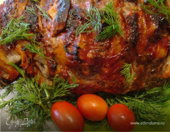 Мясо, маринованное в вине с тимьяном и грушами