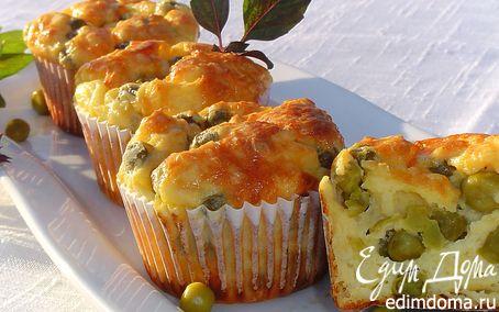 Рецепт Порционная запеканка с зеленым горошком