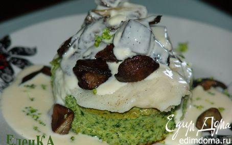 Рецепт Суфле из брокколи со шпинатом, рыбным филе и лесными грибами