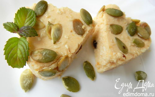 Рецепт Запеканка из творога с тыквой и яблоком